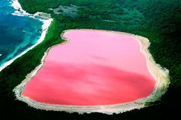 El lago rosado de Autralia